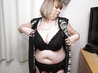 British bodacious Mature Girl Jane frolicking with herself