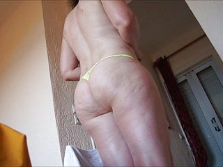 Dayglo yellow panty 03