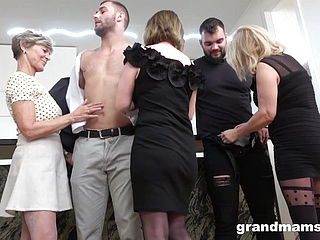 1st Ever Grandmother Orgy! Dick Fest!