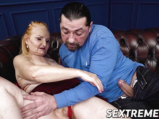 Ginger mature vixen plowed and fed with hot jizm