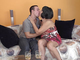 Mature mummy gets awesome lovemaking from son in law