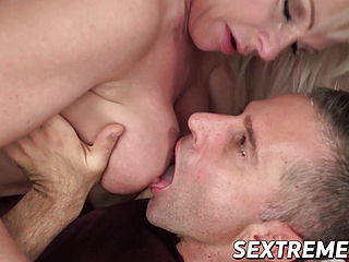 Mature dt platinum-blonde with glasses deep throats