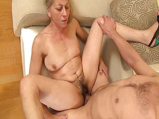 Super naughty grandmom seduced by her stepson