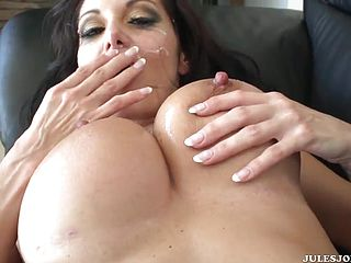 Outstanding dusky Cougar Ava Addams is getting a lovely jizz flow