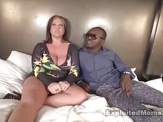 Seductive big titted mature doll is getting cum shot