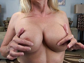 Lisa has excellent globes and she inhales on her fuck stick to get it super cute and humid