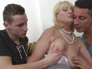 Supreme huge chested elder lady at a scorching gang hookup soiree