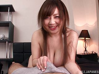 Adorable Asian Mature With Big Tits Getting Facial Cum