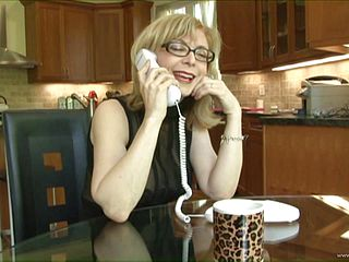 Amazing sex with the busty mature blonde Nina Hartley