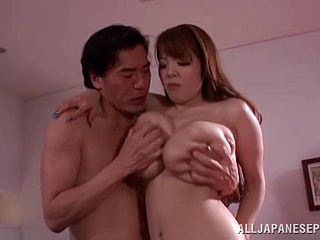 Amazingly busty Asian babe is fucked by a lucky guy
