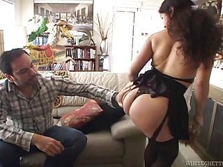 Old bitch gets her hairy pussy fucked hard