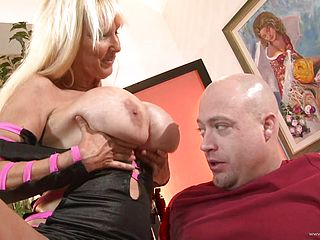 Blonde whore with big tits gets fuckin nailed