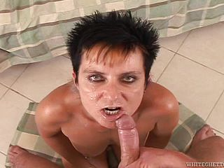 Compilation of creamy facials for naughty mature ladies