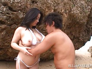 Delightful Mature Japanese Getting Drilled In An Outdoor Action
