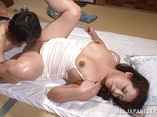 Great hardcore scene with the horny mature Asian Neko Ayami