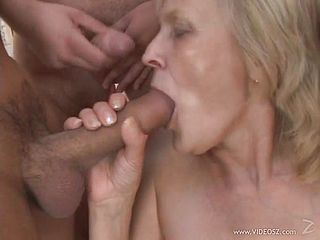 A heart stopping gangbang for a mature blonde