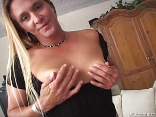Rough sex with a big cock for the mature blonde Ivy Love