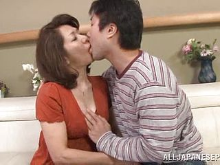 Rough sex with a horny mature Asian