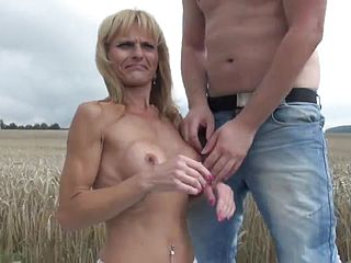 Alluring blonde mummy in personal unexperienced Hard core flick in outdoor