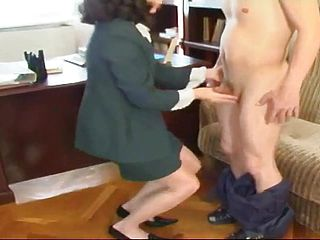 Euro mature in nymph dominance fuck a thon flick in office