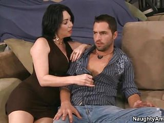 Spicy black haired expert nymph RayVeness is gargling my boners