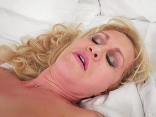 Sugar golden-haired Cougar in taunting underwear fuck a thon movie