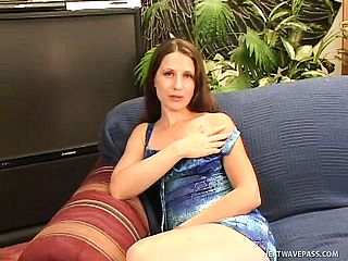 Super hot cougar Lena Ramone bj s a man sausage and gets her fur covered peach boned deep