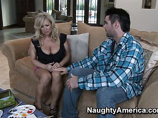 Big chested blondie mummy Rachel Enjoy is a large aficionado of youthful folks with thick fuck sticks