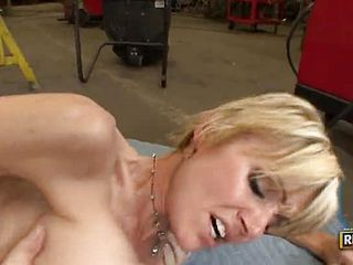 Outstanding breasty accomplished dame is getting a super cute jizz shot