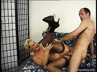 Brilliant mature actress Diana receives flawless drilling from angry lecher