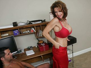 Since we are all alone... with big chested Mrs. Deauxma