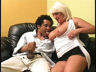 Big titted light haired grandmother entices a youthfull man to fulfill her needs