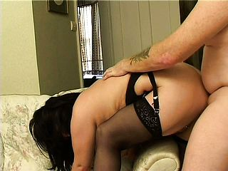 Mature housewife in undergarments gets her bodacious figure Dp d scrotum deep