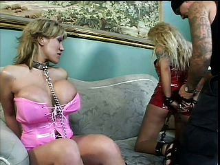 Promiscuous milfs Ava Devine and Anna Nova invite a man to open up their taut arses
