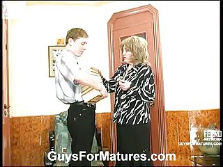 Younger stud attempting to please ultra kinky mature girl in every which way