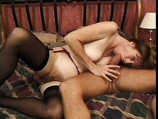 Naughty mature female luvs a rigid drilling on the sofa and then drinks a yam sized geyser