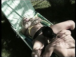 Nick Manning is insane and finds buxom honey Pamela and screws her outside