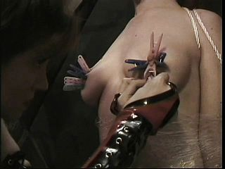 Torrid Domina brings her lil  pets to their violating point