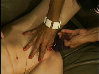 Ultra kinky aged hag in curlers entices a bony youthfull ash blonde with her girl girl tricks