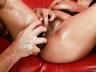 Insatiable mature Deirdre has a few fuck fest playthings driving her poon to orgasm
