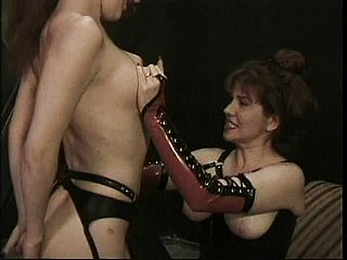 Super fucking hot Dominatrix brings her tiny pets to their violating point