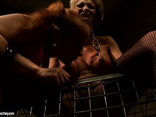 Big-tittied stunner is getting abjected by her deviant tormentor