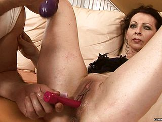 Whorish mature Debra has a wild fellow taking care of her sexual urges