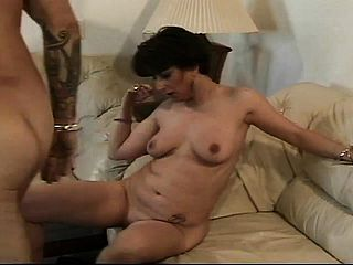 Buxomy mature chick Candy unsheathes her oral abilities and gets pummeled deep