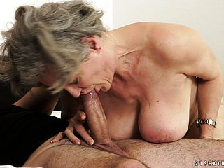 She gives him some head, gets screwed and deep throats on his shaft again