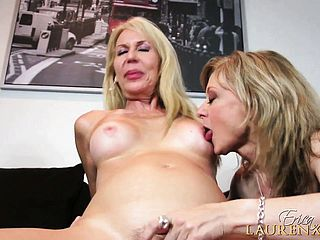 Erica and Nina take turns tearing up that pulsing man meat and cant get enough of it
