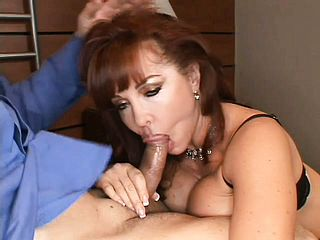 Huge chested ginger haired Milf gets some raunchy buttfuck approach from a lengthy cock