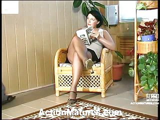 Super hot mommy savouring lick-a-clit madness before doggie style pummeling on the floor
