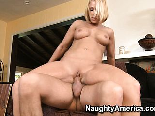 Brief haired ash blonde slut with good forms gets stuffed rigid