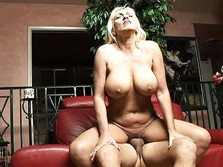 Big boobed blondie mommy Kayla Page cant get enough of a thick prick in her cooch